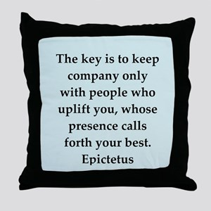 Wisdon of Epictetus Throw Pillow