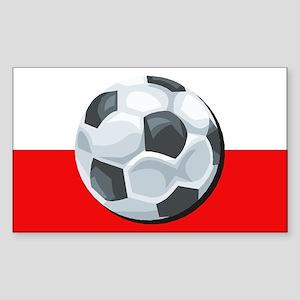 Poland Soccer Rectangle Sticker