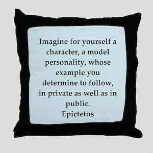 Wisdon of Epictetus Throw Pillow