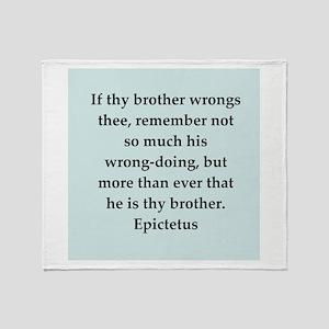 Wisdon of Epictetus Throw Blanket