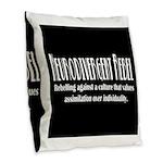 Neurodivergent Rebel Burlap Throw Pillow