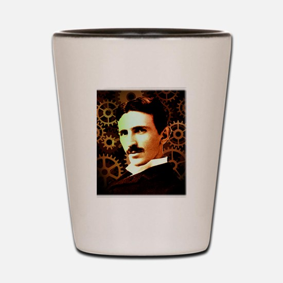 Nikola Tesla Shot Glass