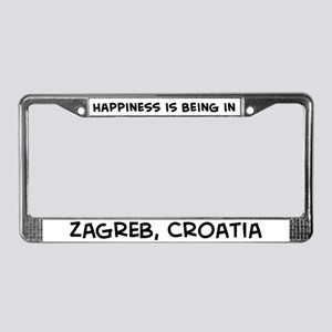 Happiness is Zagreb License Plate Frame