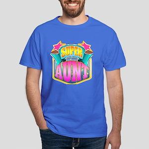 Pink Super Aunt Dark T-Shirt