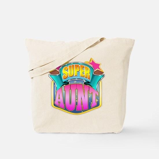 Pink Super Aunt Tote Bag