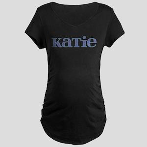 Katie Blue Glass Maternity Dark T-Shirt