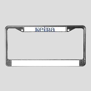Keira Blue Glass License Plate Frame