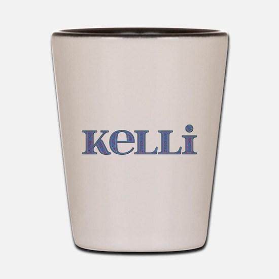 Kelli Blue Glass Shot Glass