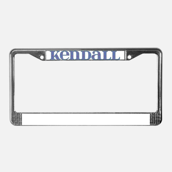 Kendall Blue Glass License Plate Frame