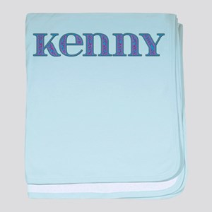 Kenny Blue Glass baby blanket