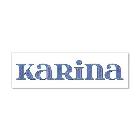 Karina Blue Glass 10x3 Car Magnet