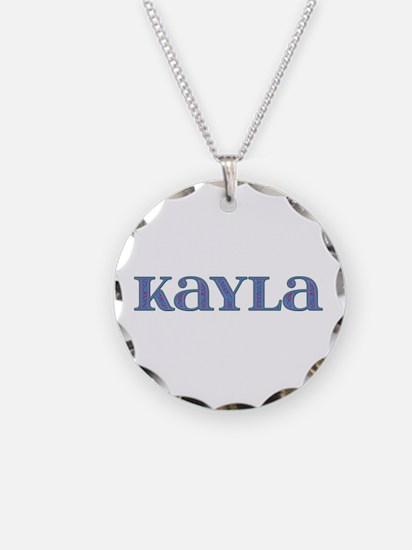 Kayla Blue Glass Necklace