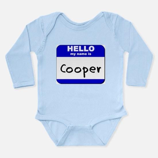 hello my name is cooper Body Suit