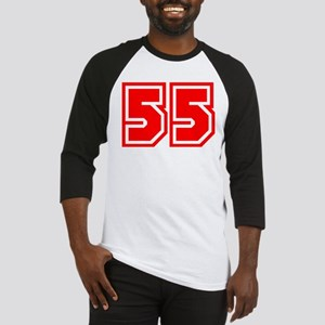 Varsity Uniform Number 55 (Red) Baseball Jersey