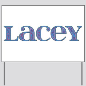 Lacey Blue Glass Yard Sign