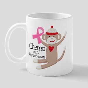 Breast Cancer Chemo Sock Monkey Mug