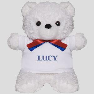Lucy Blue Glass Teddy Bear