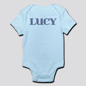 Lucy Blue Glass Infant Bodysuit