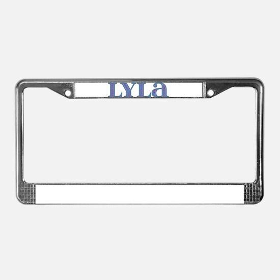 Lyla Blue Glass License Plate Frame