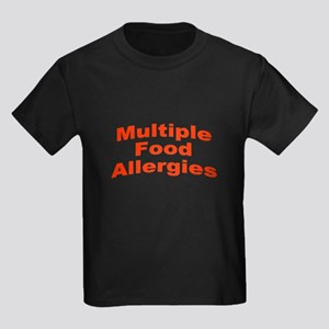Multiple Food Allergies Kids Dark T-Shirt