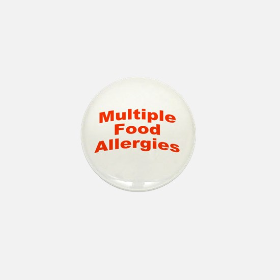 Multiple Food Allergies Mini Button