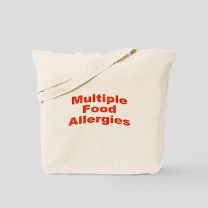Multiple Food Allergies Tote Bag