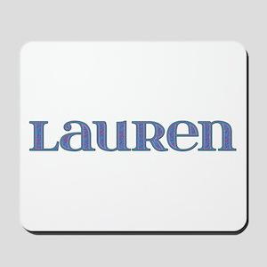 Lauren Blue Glass Mousepad