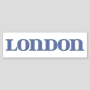 London Blue Glass Bumper Sticker