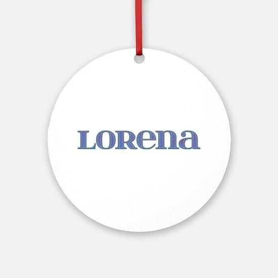 Lorena Blue Glass Round Ornament