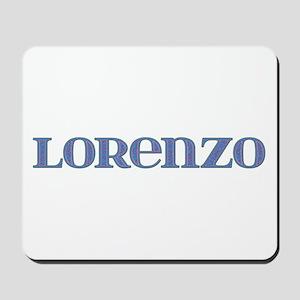 Lorenzo Blue Glass Mousepad