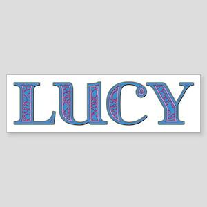 Lucy Blue Glass Bumper Sticker