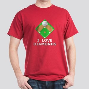 Baseball, I Love Diamonds Dark T-Shirt