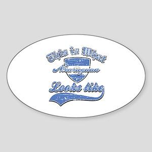 looks like nicaraguan Sticker (Oval)