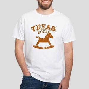 Texas Rocks White T-Shirt