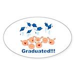 Graduation Oval Sticker
