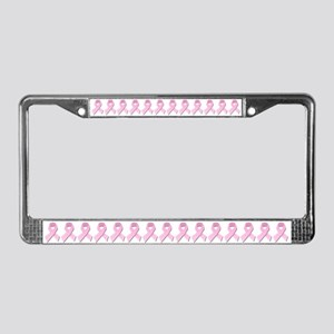 Pink Gingham Ribbon License Plate Frame