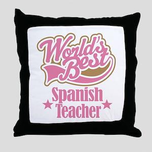 Spanish Teacher Gift Throw Pillow