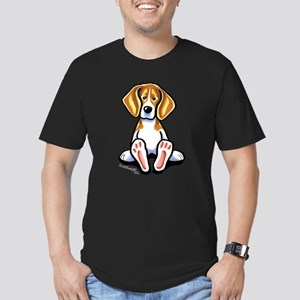 Funny Beagle Men's Fitted T-Shirt (dark)