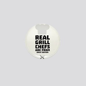 Real Grill Chefs are from Great Britai Mini Button