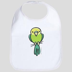 Yellow/Green Parakeet Bib