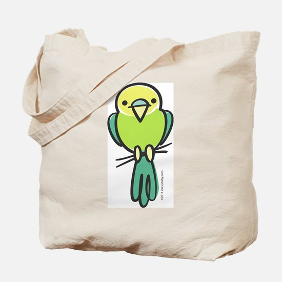 Yellow/Green Parakeet Tote Bag