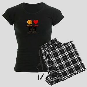 Peace Love Classic Rock Women's Dark Pajamas