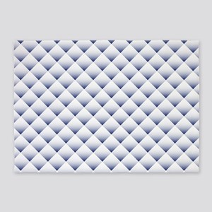 Blue White Quilt 5'x7'Area Rug