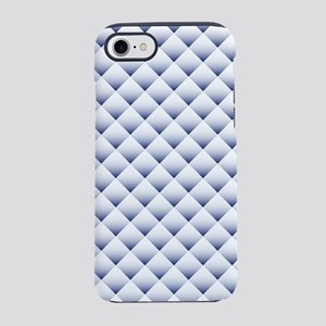 Blue White Quilt iPhone 7 Tough Case