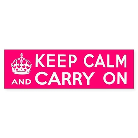 KEEP CALM Sticker (Bumper)