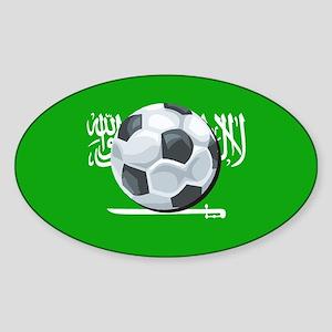 Saudi Arabian Flag Oval Sticker