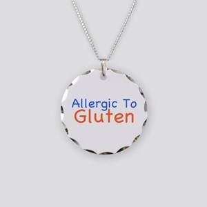 Allergic To Gluten Necklace Circle Charm