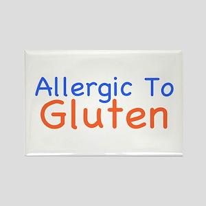 Allergic To Gluten Rectangle Magnet