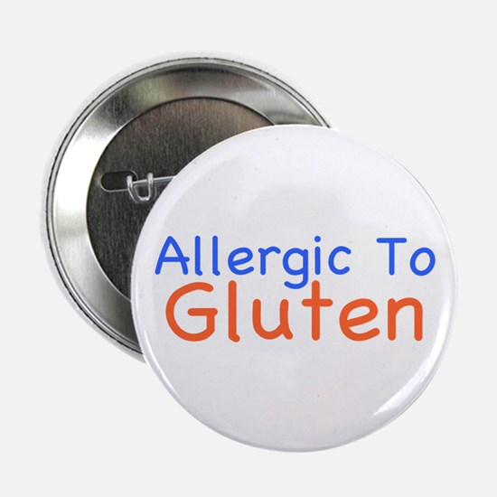"Allergic To Gluten 2.25"" Button (10 pack)"