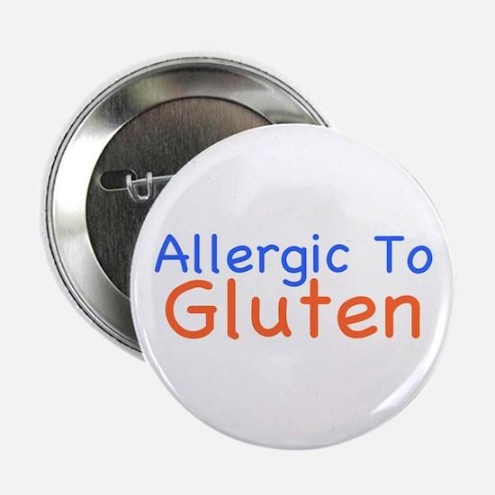 """Allergic To Gluten 2.25"""" Button"""